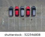 empty parking lots  aerial view. | Shutterstock . vector #522546808