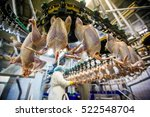 chicken meat processing factory | Shutterstock . vector #522548704