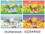 landscape design set with...   Shutterstock .eps vector #522549433