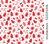 seamless pattern with christmas ...