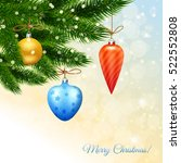 merry christmas poster with... | Shutterstock .eps vector #522552808