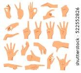 set of hands in different... | Shutterstock .eps vector #522552826