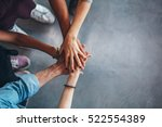 cropped image of young people's ...   Shutterstock . vector #522554389