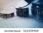 double exposure of city and... | Shutterstock . vector #522559909