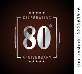 eighty anniversary celebration... | Shutterstock .eps vector #522561976