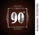 ninty anniversary celebration... | Shutterstock .eps vector #522562384