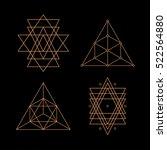 sacred geometry. alchemy ... | Shutterstock .eps vector #522564880
