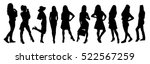 woman silhouettes | Shutterstock .eps vector #522567259