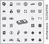 casino icons universal set for... | Shutterstock .eps vector #522569500