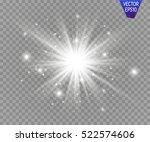 glow light effect. star burst... | Shutterstock .eps vector #522574606