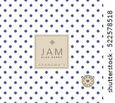 jam label. swatch pattern... | Shutterstock .eps vector #522578518