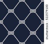 seamless nautical rope pattern. ... | Shutterstock . vector #522579100