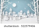 winter snow urban countryside... | Shutterstock .eps vector #522579406
