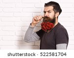handsome bearded man with... | Shutterstock . vector #522581704