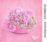 lovely bunch of flowers ... | Shutterstock . vector #522588010
