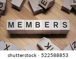 members word written in wooden... | Shutterstock . vector #522588853