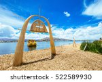 totora boat on the titicaca... | Shutterstock . vector #522589930