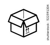 moving box minimalistic flat...   Shutterstock .eps vector #522591304