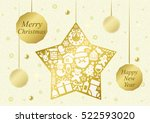 star shaped christmas ornaments | Shutterstock .eps vector #522593020