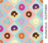 cute and bright vector pattern... | Shutterstock .eps vector #522593884
