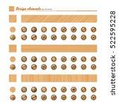set of elements for design  ... | Shutterstock .eps vector #522595228