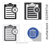 check list board. set icon of... | Shutterstock .eps vector #522595714