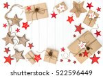 wrapped gifts advent calendar...   Shutterstock . vector #522596449