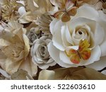 the texture of paper rose and... | Shutterstock . vector #522603610