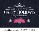 Happy Holidays Greatings Card...
