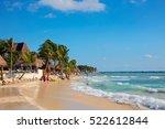 playa del carmen  mexico  ... | Shutterstock . vector #522612844