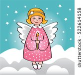 christmas angel | Shutterstock .eps vector #522614158