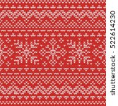 christmas knitting seamless... | Shutterstock .eps vector #522614230