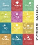 Year 2017 Monthly Calendar...