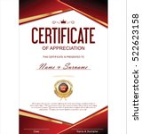 luxury certificate or diploma... | Shutterstock .eps vector #522623158