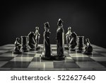 black chess pieces on chess... | Shutterstock . vector #522627640
