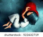 Digital Painting Of Girl...