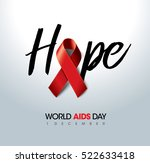 aids awareness red ribbon.... | Shutterstock .eps vector #522633418