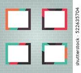 set of photo frames  realistic...   Shutterstock .eps vector #522635704