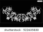 embroidery ethnic flowers neck... | Shutterstock .eps vector #522635830