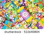 colored gift boxes with... | Shutterstock . vector #522640804