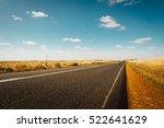 asphalt road on westen... | Shutterstock . vector #522641629