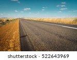 asphalt road on westen... | Shutterstock . vector #522643969