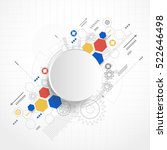 abstract technology background. ... | Shutterstock .eps vector #522646498