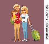 young family traveling | Shutterstock .eps vector #522647158