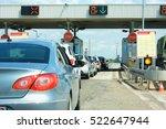 Highway Traffic Jam On Pay Tol...
