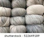 gray wool knitting   Shutterstock . vector #522649189
