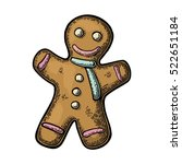 gingerbread man. isolated on... | Shutterstock .eps vector #522651184