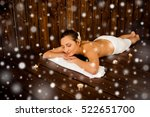 pretty woman lying in spa and... | Shutterstock . vector #522651700