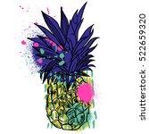 pineapple tropical fruit....   Shutterstock .eps vector #522659320