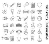 vector medical icons set. line... | Shutterstock .eps vector #522659458